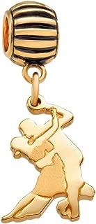 Coquí el Original Salsa Dancers Solid 14K Gold Charm Fits Pandora