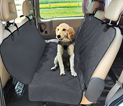 Best Pet Supplies Best Pet Supplies Water Resistant Back Seat Cover for Dogs with Protective Pouch | Nonslip Backseat Protector for Cars, SUVs & Trucks (Grey)