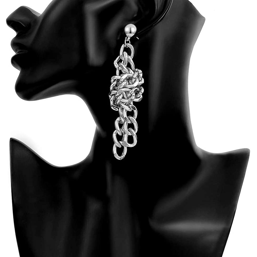 Cathy Clara Simple Personality Creative Metal Geometry Winding Chain Knotted Earrings Ladies Jewelry Gift Woman's Crystals