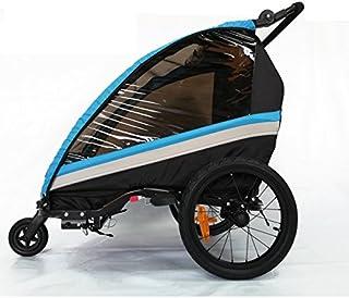 RBO Remolque de Bicicleta para niños One, Carrito de Bicicleta, monoplaza, Plegado rapido