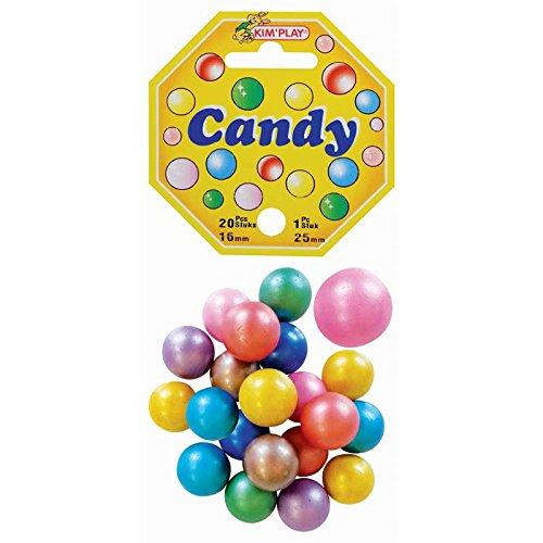 KimPlay–20Stück + 1Kugel, Candy, 500831