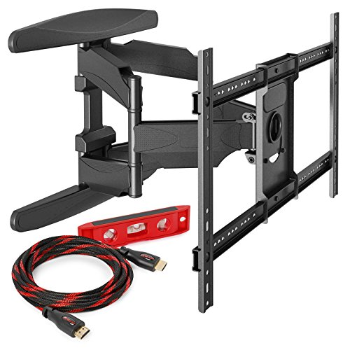 "Heavy-Duty Full Motion TV Wall Mount - Articulating Swivel Bracket Fits Flat Screen Televisions from 42"" to 70"" (VESA 400 x 600 Compatible) – Tilt Swing Out Arm with 10"