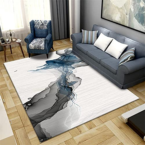 Suelo Vinilo Alfombras para Niños Lanza Gris arroz Blanco Moderno Minimalista Abstracto diseño gráfico Alfombras Dormitorio Modernas 50X160cm