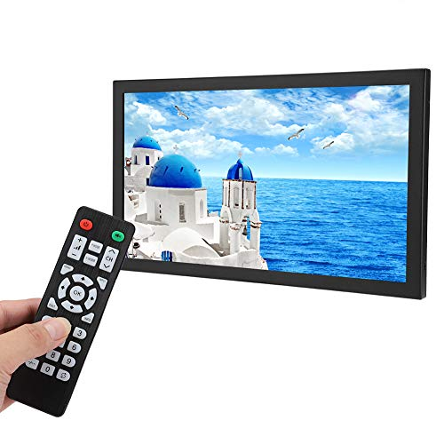 13.3 inch CCTV HDMI Monitor 1920 x 1080 Native Full HD TFT Display with HDMI/BNC/VGA/AV/USB Portable Monitor Metal Housing for CCTV Camera, PC Display, Raspberry Pi, VESA Wall Mount(Black)