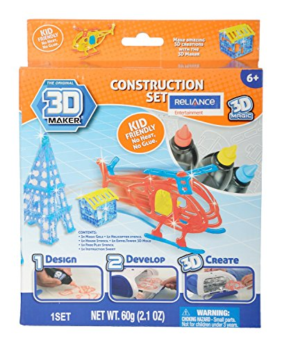3D Magic 83002 3D Maker Construction and Vehicle Expansion Pack, Multi Colour
