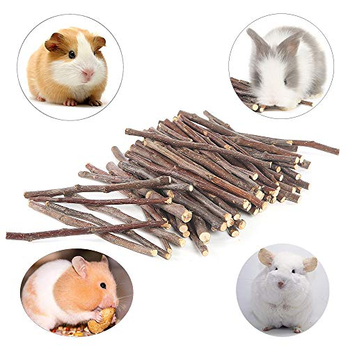 Niteangel Apple Chew Sticks for Chinchilla, Guinea Pigs, Hamsters, Rabbits, Parrots and Other Small Animals (10.5-oz)