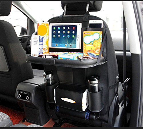TOCGAMT Car Backseat Organizer with Table for Baby (Black)