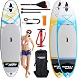 miweba Moana Stand Up Paddle Sup Surf Tabla hinchable 305& 325cm 15cm paddling Remo con muchos accesorios Color: Cool Blue, Cool Blue
