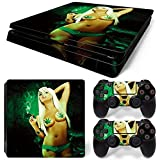 Gam3Gear Vinyl Decal Protective Skin Cover Sticker for PS4 Slim Console & Controller (NOT for PS4 or PS4 Pro) - Sexy Girl