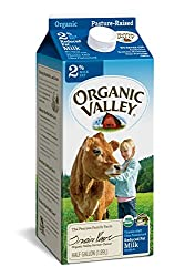 Organic Valley, Organic 2% Reduced Fat Milk, Ultra Pasteurized, Half Gallon, 64 oz