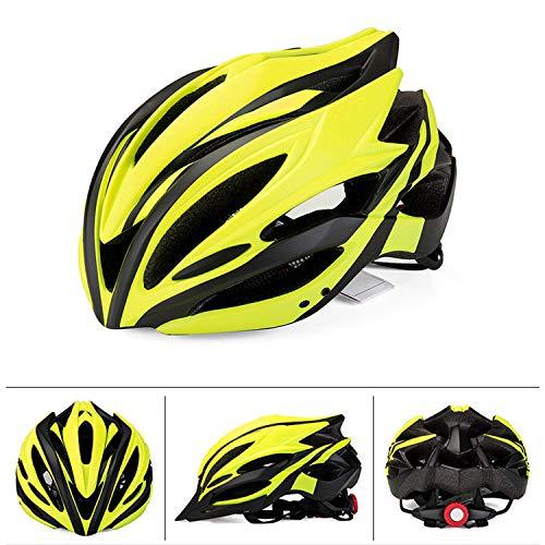 FitTrek Fahrradhelm mit Licht - Fahrrad MTB Helm 56-62 cm Einstellbare - CE-Zertifikat Radhelm mit Abnehmbarem Visier und Insektennetz - Rennradhelm Mountainbike Helm Damen Herren