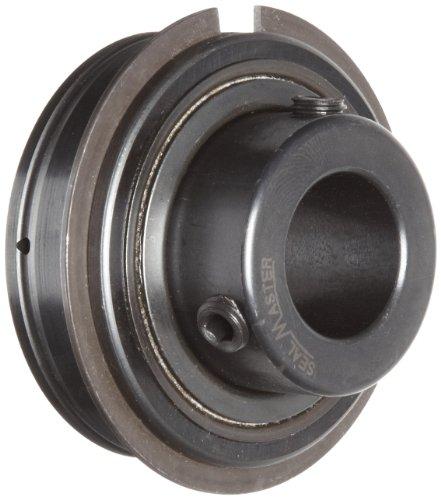 Sealmaster ER-29 Cylindrical OD Bearing, Setscrew Locking Collar, Light Contact Felt Seals, 1-13/16