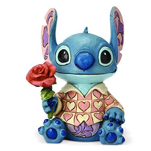 Enesco Disney Traditions by Jim Shore Lilo and Stitch Valentine Figurine, 6.1 Inch, Multicolor