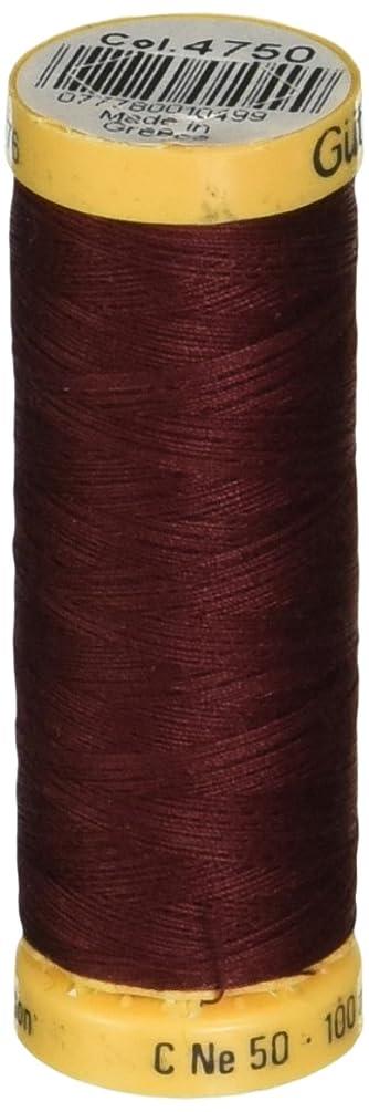 Gutermann Natural Cotton Thread 110 Yards-Dark Mahogany