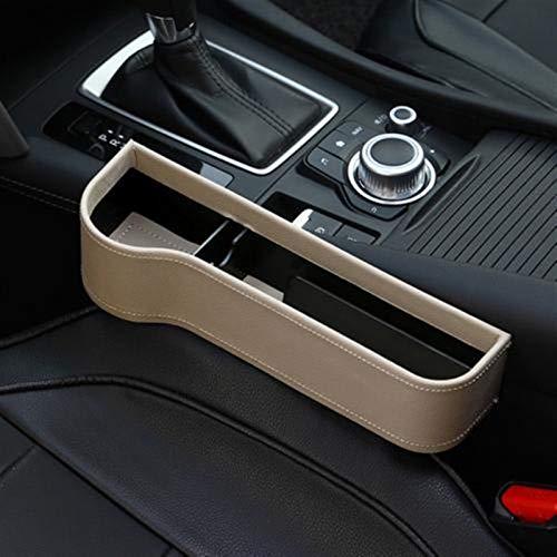 Links/Rechts-Universal-Pair Passagier Fahrerseite Autositz Gap Storage Box Tasche for Mappen-Telefon-Münzen Keys Karten Organizer (Color : Beige Left)