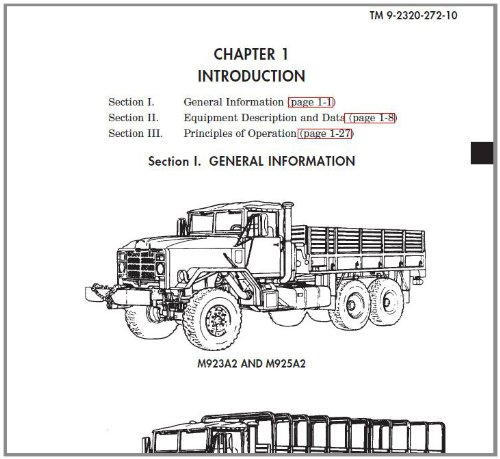 US Army, Technical Manual, TM 9-2320-272-10, TECHNICAL MANUAL OPERATOR'S MANUAL FOR TRUCK, 5-TON, 6X6, M939, M939A1, AND M939A2 SERIES TRUCKS (DIESEL), ... Army Field Manuals (English Edition)