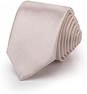 OM3® K-30 Beige schmale Krawatte Herren Smoking Slim Uni Tie Hochzeit Business Schlips dünn Handmade (BEIGE)