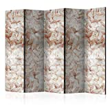 murando Biombo con Tablero de Corcho Ornamento Hojas 225x172 cm de Impresion Bilateral en...