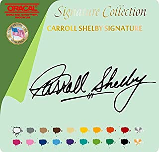 CARROLL SHELBY SIGNATURE VINYL STICKER DECAL FORD COBRA RACE MUSTANG TRACK (3