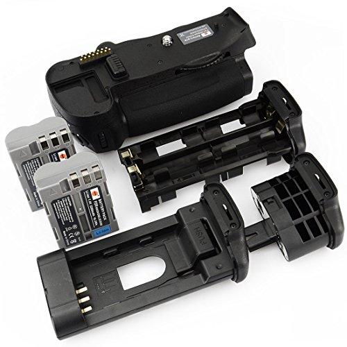 DSTE® Batterie Griff für Nikon D700 D300 D300S D900 DSLR Digital Kamera als MB-D10 mit (2 packung) EN-EL3E