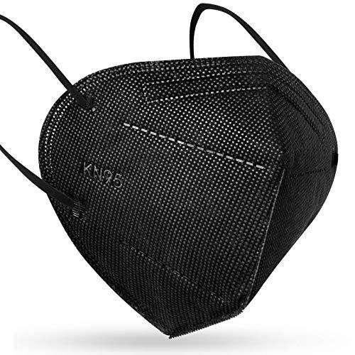 Eventronic 20 Piezas, KN95 Negro Mascarilla Protectora Máscara de Material Transpirable, Tela no Tejida