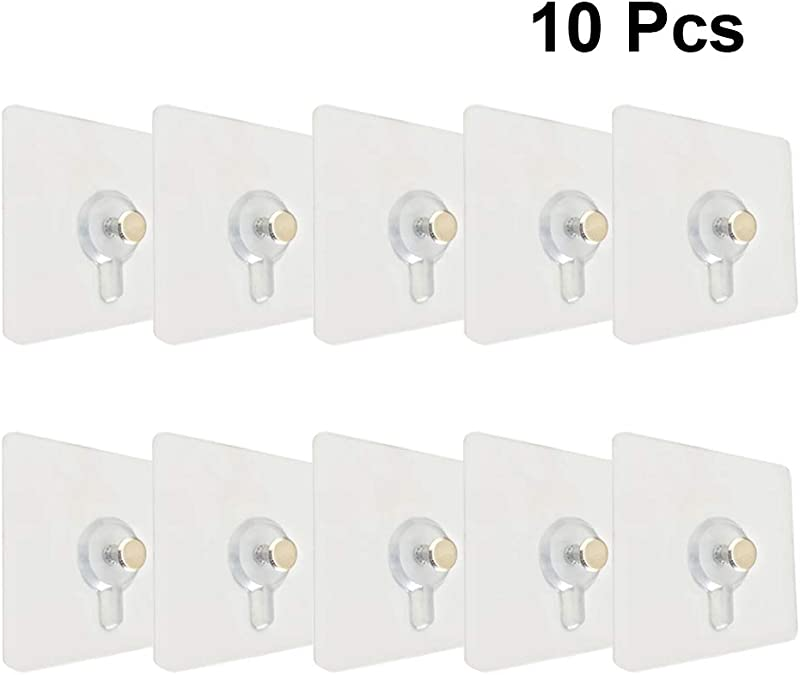 LIOOBO Photo Frame Hooks Invisible With Screws Stickers Hanging Picture Painting Hooks For Picture Photo Frame Hanging 10pcs