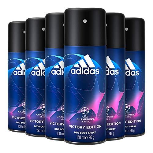 Adidas Uefa Champions League Victory Edition Desodorante Spray Para Hombre 150 ml - Pack de 6