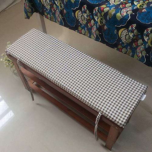 BoruisX - Cojín de banco largo con cremallera, cómodo cojín para banco de jardín con lazos de fijación, cojín rectangular suave para asiento de silla para interior y exterior, 5, 100*35*4cm