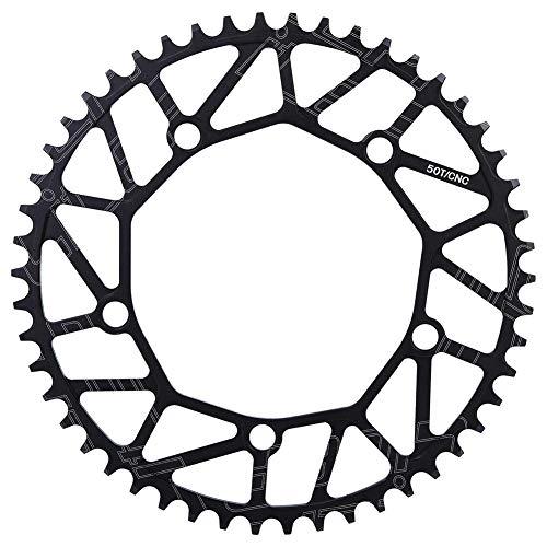 VGEBY1 Fahrradkettenrad, 50/52/54/56 / 58T 130BCD Fahrrad Single Geschwindigkeit Kettenblatt für die meisten Fahrrad Rennrad Mountainbike(50T)