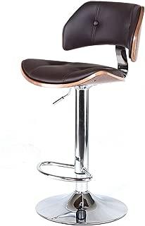 Everyday bar stools NNN- Bar Stool High-end Bar Stool Swivel Chair Retro Solid Wood Bar Chair European-style Lift Stool (Color : A)