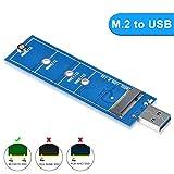 ELUTENG M.2 SSD a USB 3.0 Adattatore NGFF SATA Basato B/B+M SuperSpeed Adapter 5Gbps Supporto 2230 2242 2260 2280 compatibile per Windows 10/8/7/XP/2003/2000/Vista, Linux(NON per NVME)