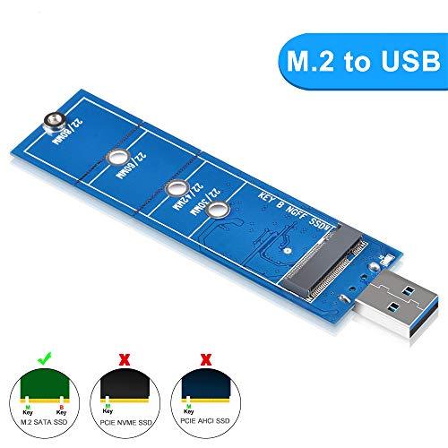 ELUTENG M.2 USB Adapter 5 Gbps M.2 Adapter unterstützt NGFF SATA Basiert B/B + M Schlüssel Nicht unterstützt NVMe/PCIE SSD M.2 zu USB 3.0 für 2230 2242 2260 2280 MEHRWEG