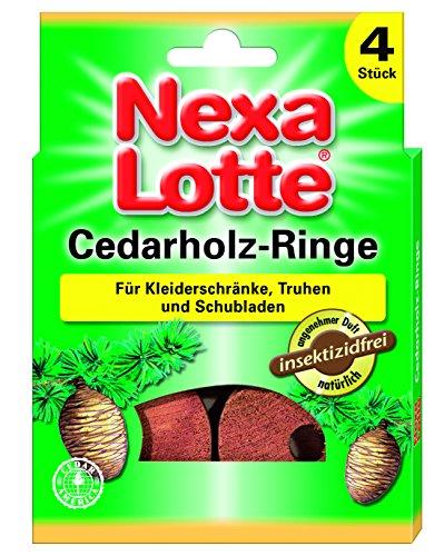 Nexa Lotte 3637 Lot de 4 Anneaux en Bois de cèdre