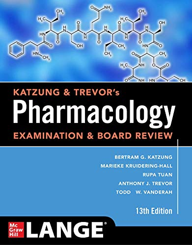 Compare Textbook Prices for Katzung & Trevor's Pharmacology Examination and Board Review, Thirteenth Edition Katzung & Trevor's Pharmacology Examination & Board Review 13 Edition ISBN 9781260117127 by Katzung, Bertram,Kruidering-Hall, Marieke,Tuan, Rupa Lalchandani,Vanderah, Todd W.,Trevor, Anthony