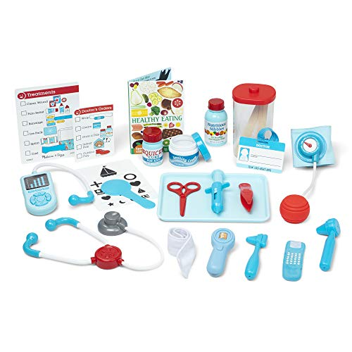 Image of Melissa & Doug Get Well Doctor's Kit Play Set, The Original (25 Pieces, Great Gift for Girls and Boys - Kids Toy Best for 3, 4, 5, and 6 Year Olds)
