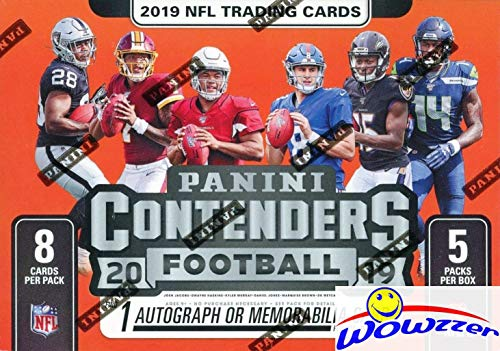 2019 Panini Contenders NFL Football EXCLUSIVE Factory Sealed Retail Box with AUTOGRAPH or MEMORABILIA Card! Look for RC & Autos of Kyler Murray, Daniel Jones, Dwayne Hoskins, Drew Lock & More! WOWZZER (Auto Autograph Card)