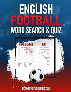 English Football Word Search & Quiz: Large Print Word Search Puzzle book for English Football Lovers