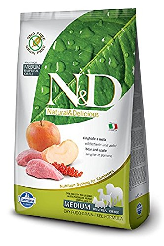 Farmina N&D Dog Grain-Free Adult Medio Cinghiale&Mela Gr. 800