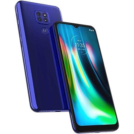 Motorola Moto G9 4G LTE GSM desbloqueado XT2083-3 (LTE Global AT&T/Cricket/Tmobile/Mint/Latin/Europa) 64GB 4Gb Ram Triple Cámara 48MP Visión Nocturna Versión Internacional CDMA (Azul (Sótula Azul, 64GB+4GB)