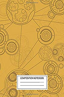 Notebook: Yellow Gallifrey Pattern , Journal for Writing, Size 6