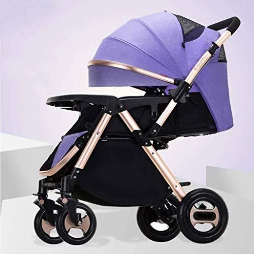 Cochecito para bebés infantiles para recién nacidos y niños pequeños - Compacto de un solo bebé carruaje para niños Siller de siller de lujo Cochecito de cochecito de lujo Añadir soporte de taza Footm