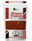Edi Gourmet Spice Aleppo Pepper - 4 oz, Crushed Red Pepper Flakes, Turkish Maras Pul biber, Dried Allepo Middle Eastern Spice, Halaby Chili Pepper Seasoning