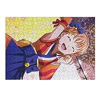 ジグソーパズル ラブライブ スクスタ 高海千歌 300 ピース 人気 遊び 雰囲気 木製のパズル 減圧 アニメ 子供 大人用 パズル