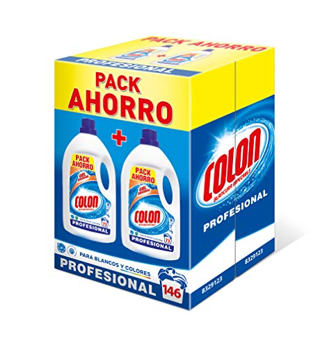 Colon Detergente para Lavadora de Ropa Formato Liquido Azul Profesional (146 lavados)