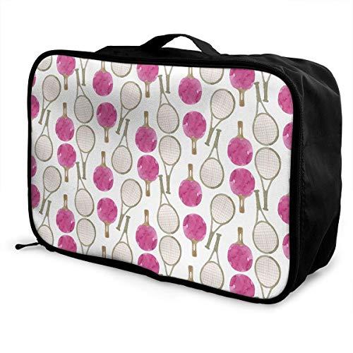 bolsas de maleta Travel Luggage Trolley Bag Portable Lightweight Suitcases Duffle Tote Bag Handbag Ping Pong And Tennis Pattern Overnight Bag