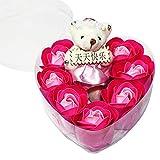 Bebliss 7Pcs duftende Rosen-Blumen-Blumenblatt-Blumenstrauß-Geschenkbox mit...