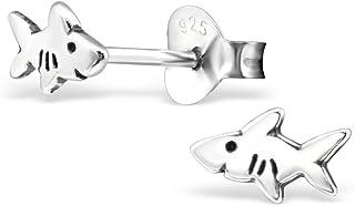 925 Sterling Silver Hypoallergenic Shark Stud Earrings for Girls 28267