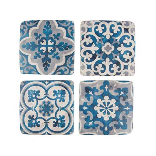Set of 4Mediterrane Mosaik Santorini Untersetzer