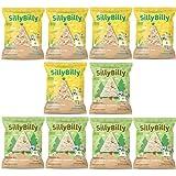 SillyBilly - Snack ecológico - Pack 10 bolsitas - Pack Más Vendidos Triángulos - Tortitas de arroz integral y maíz o legumbres en forma de nachos - Almuerzos y meriendas - Para picar entre horas