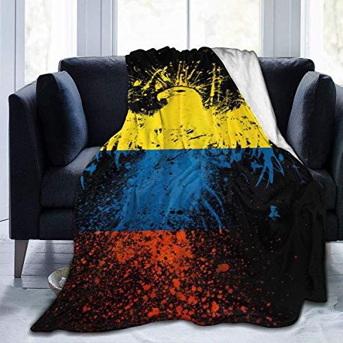 Manta de Lana, Manta de Tiro Amarillo, Azul, Rojo, águila, Manta Suave y difusa, Manta de Microfibra de Felpa para Adultos para Habitaciones con Aire Acondicionado